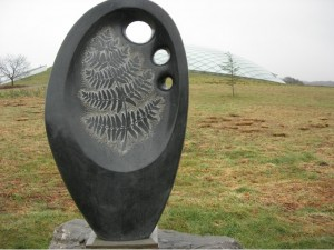 National Botanic Garden Wales - Fern and slate sculpture - March 2018